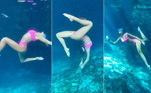 Mostrando que estava mesmo aventureira, Sasha publicou um vídeo no qual faz acrobacias debaixo d'água.Ela ganhou elogios de famosas como Gabriela Pugliesi, Grazi Massafera e Thaila Ayala.