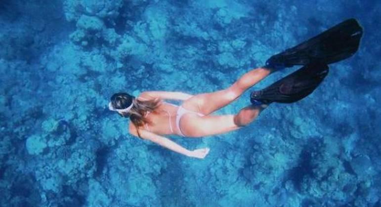 """""""Meu último dia nessa ilha perfeita"""", escreveu Sasha sobre Maldivas"""