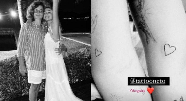 Casal tatuou junto o desenho de um coração