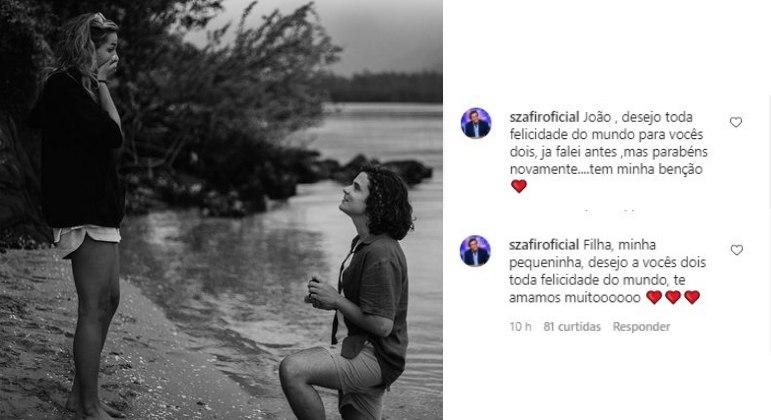Luciano Szafir aprova noivado de Sasha e João Figueiredo