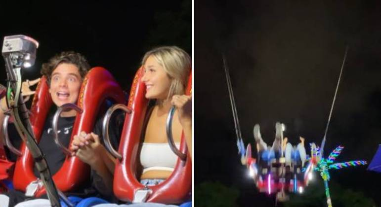 João Figueiredo e Sasha curtem brinquedo na Disney
