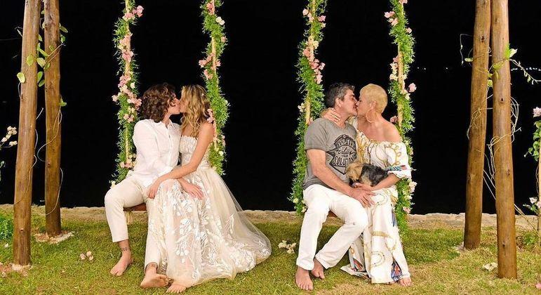 Clique romântico foi feito no dia do casamento de Sasha