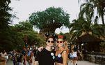 Sasha e João também aproveitaram a passagem pelos EUA para visitar os parques de diversão e curtir os brinquedos radicais da Disney