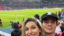 Sasha e João Figueiredo assistem ao jogo de Neymar em Paris