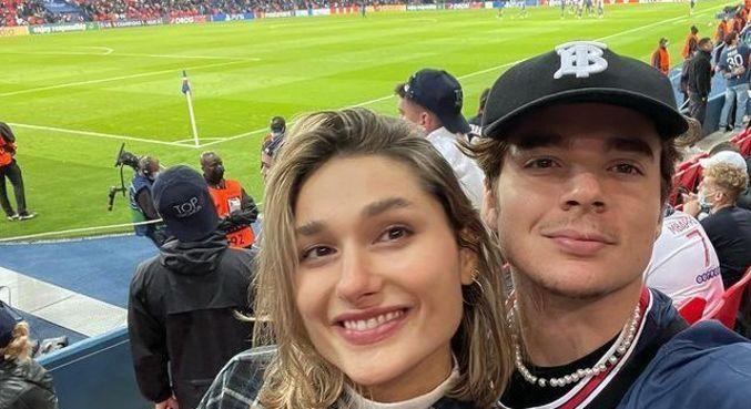 Sasha e João foram ao estádio e assistiram ao jogo de Neymar