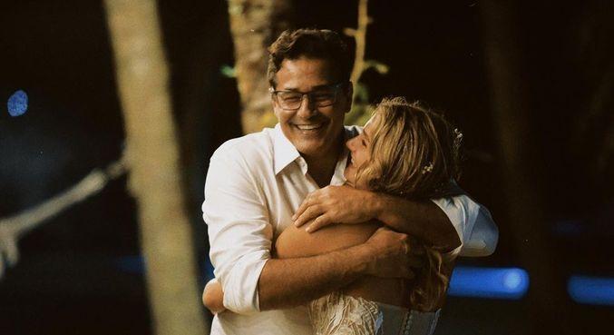 Sasha com Szafir no dia do casamento dela com João Figueiredo, em maio