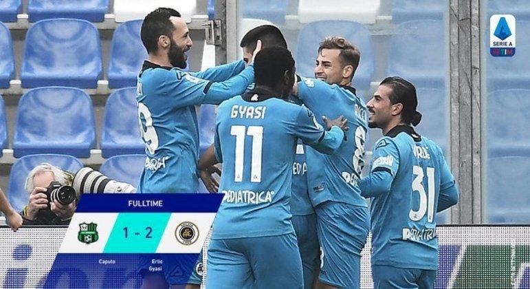 Em Reggio nell'Emilia, a incrível vitória do Spezia