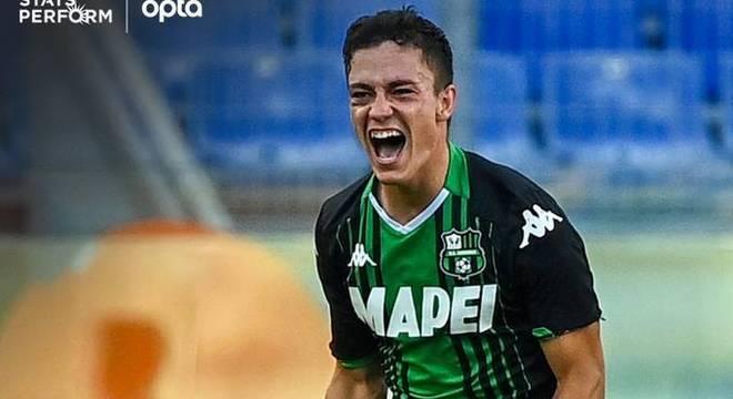 Raspadori, um gol logo na sua estréia na Série A