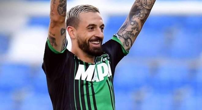 Caputo, o autor do gol da vitória sobre a Lazio