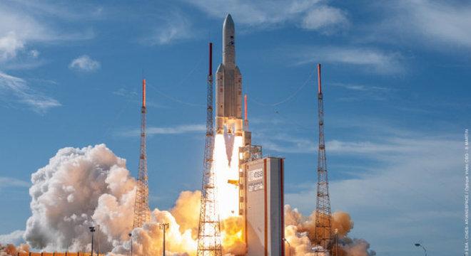 O satélite EDRS-C foi lançado a bordo de um Ariane 5