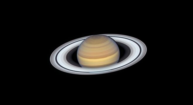 Telescópio Hubble faz registro nítido de Saturno e seus anéis