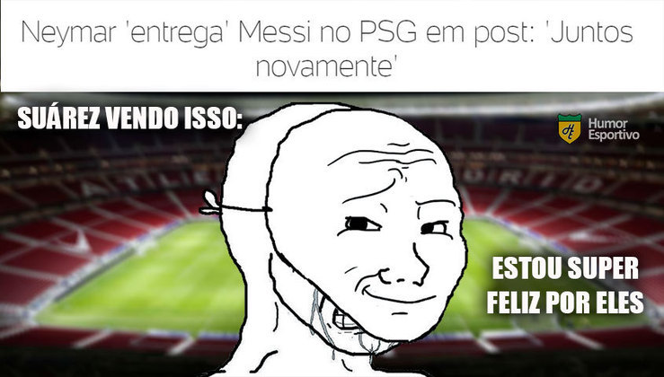 Saudade do MSN? Memes brincam com Suárez após reencontro entre Neymar e Messi