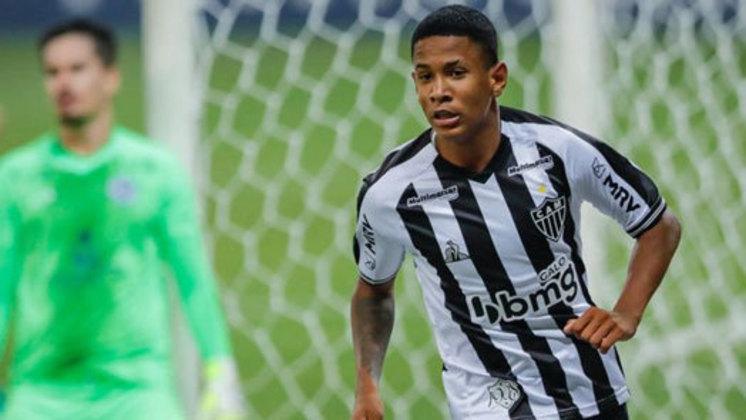 Sávio: atacante do Atlético-MG, 16 anos, contrato até dezembro de 2023. Pode ganhar rodagem em outra equipe. Atuou em seis partidas do Brasileiro, duas como titular
