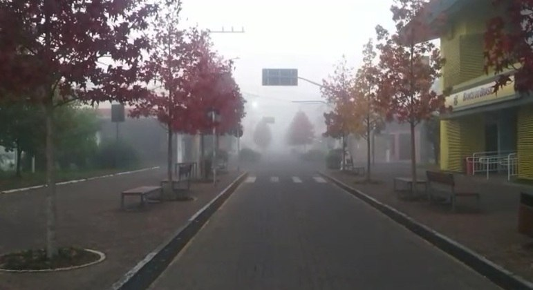 Serra de Santa Catarina registra temperatura negativa de -2ºC