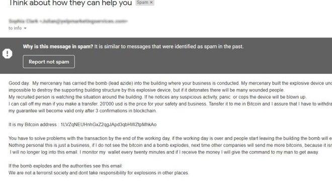 E-mail disseminado nos EUA pedia um 'resgate' de US$ 20 mil em bitcoins