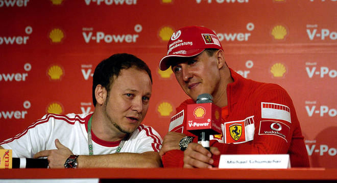 Com Michael Schumacher, nos idos do apogeu do grande campeão da F1