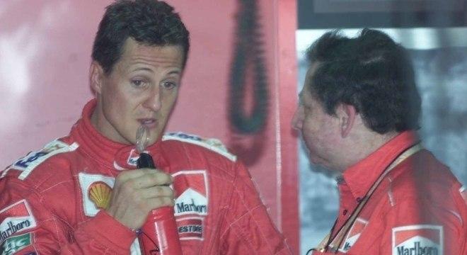 Michael Schumacher e Jean Todt, na Ferrari