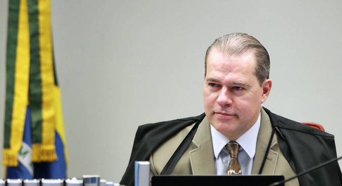 O ministro Dias Toffoli durante sessão por videoconferência