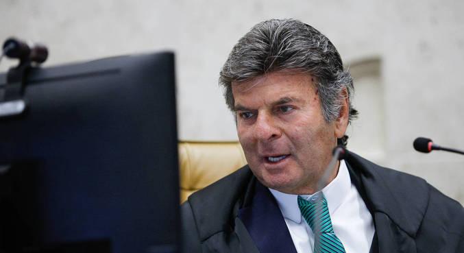 O presidente do STF, ministro Luiz Fux, em sessão realizada por videoconferência