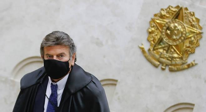 O presidente do STF, ministro Luiz Fux