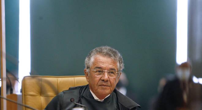 Ministro Marco Aurélio, que manteve posição pela liberdade do traficantes