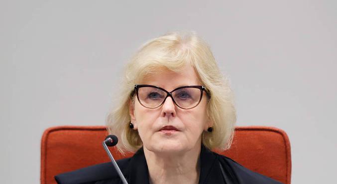 A ministra Rosa Weber, do STF, durante audiência pública