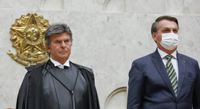 O presidente do STF, Luiz Fux, e o presidente Jair Bolsonaro