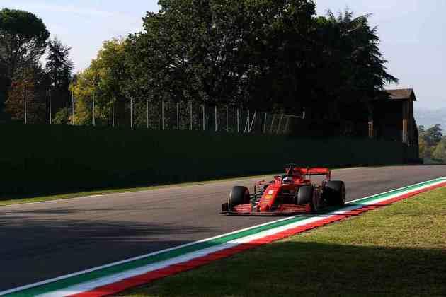 Sebastian Vettel decepcionou na classificação para o GP da Emília-Romanha: 14º no grid