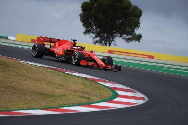 Sebastian Vettel em ação no GP de Portugal de Fórmula 1