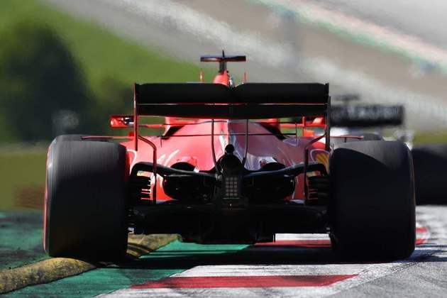 Sebastian Vettel enfrentou problemas durante a corrida no Red Bull Ring - comemorou ter rodado apenas uma vez