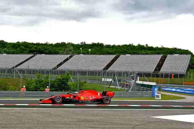 Sebastian Vettel fez bom treino e colocou a Ferrari em 5º