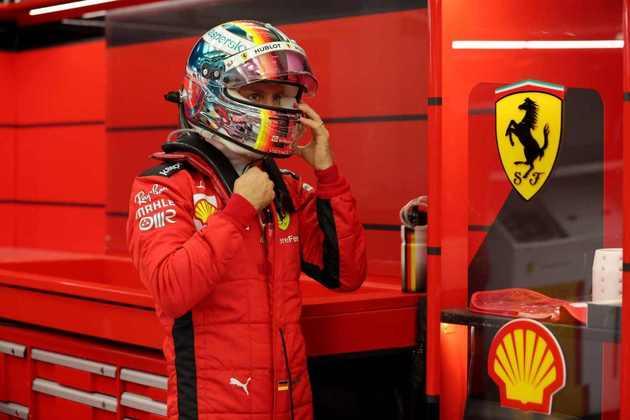 Sebastian Vettel ficou apenas em 12º.