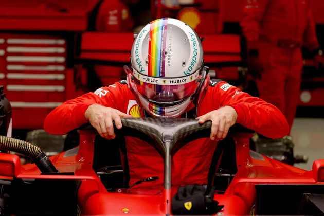 Sebastian Vettel ficou apenas em 13º