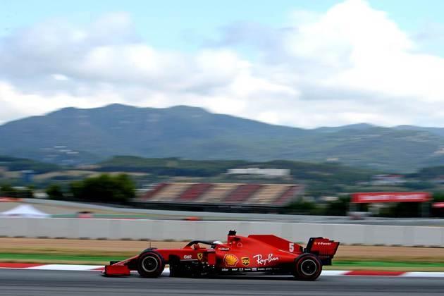 Sebastian Vettel ficou com a sétima posição em Barcelona