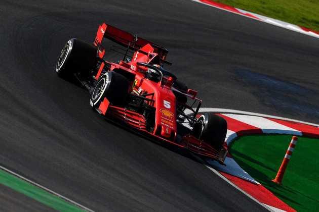 Sebastian Vettel foi ao pódio no GP da Turquia.