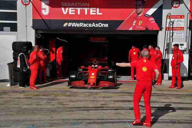 Sebastian Vettel não repetiu o desempenho do companheiro, foi apenas 11º