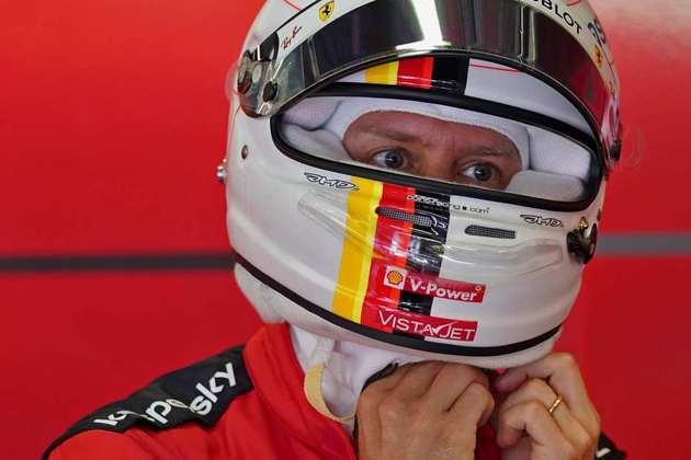 Sebastian Vettel sofreu com o ritmo da Ferrari e teve de se contentar com a 11ª colocação do grid de largada