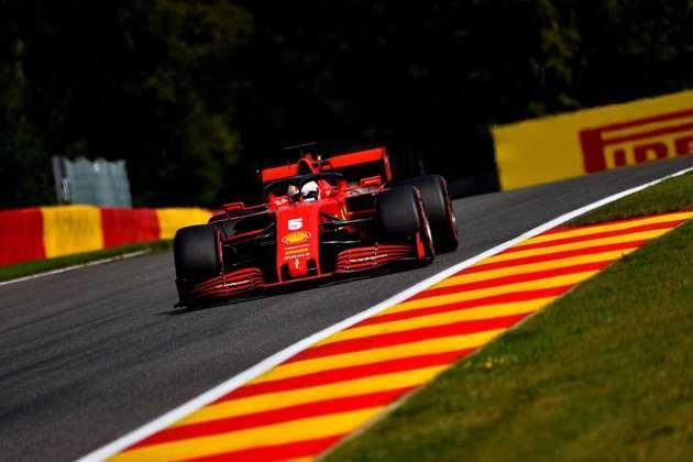 Sebastian Vettel terminou o GP da Bélgica apenas na 13ª colocação