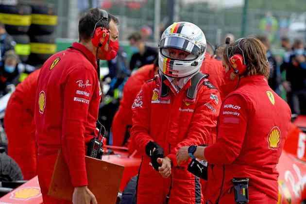 Sebastian Vettel teve novamente uma dura corrida e ficou fora da zona de pontuação