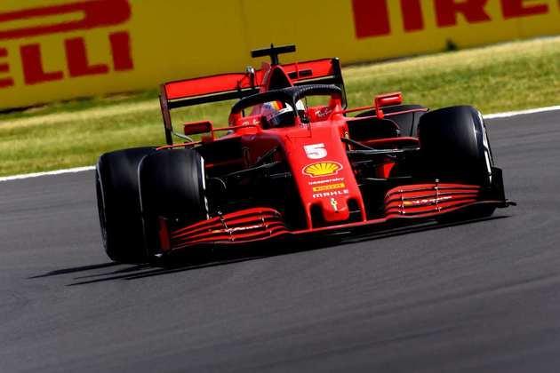 Sebastian Vettel teve uma corrida apagada. Apenas 10º