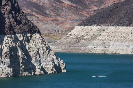 Em 2014, Lago Mead tinha perdido 39% do volume de água