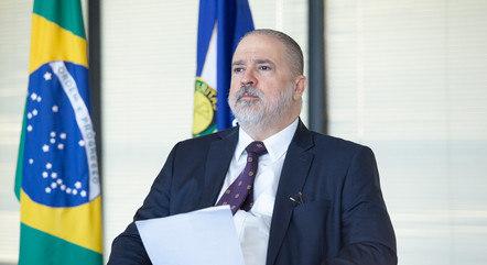 Augusto Aras durante evento em Brasília