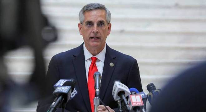 Secretário de Estado da Geórgia, Brad Raffensperger disse que terminou recontagem