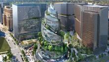Nova sede da Amazon parece um 'emoji de cocô de vidro', diz a web