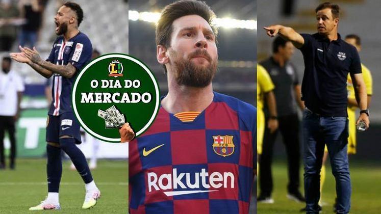 Segunda-feira de muita agitação no mercado da bola. Neymar definiu onde vai jogar na temporada 2020/2021, novidades sobre o futuro de Lionel Messi e muito mais. Confira aqui um resumo com as últimas notícias do vaivém.