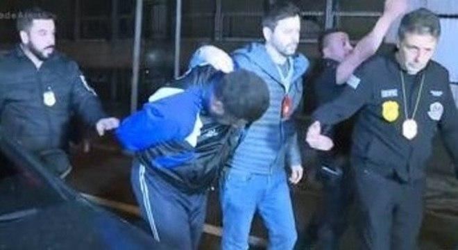 Segurança David de Oliveira Fernandes no momento de sua prisão