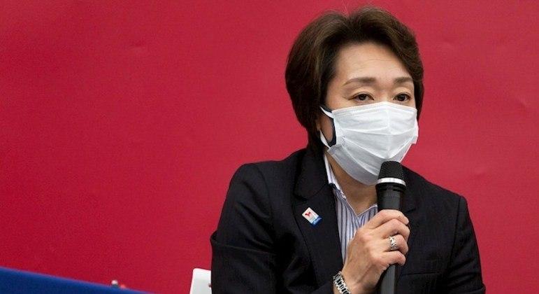 Seiko Hashimoto, presidente da Tóquio 2020, anunciou a ausência de público nesta segunda
