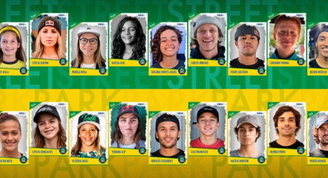 Seleção de skate tem 22 atletas entre homens e mulheres