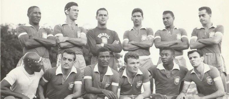 Seleção brasileira, na Copa da Suécia, em 1958