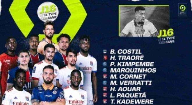 Seleção da 16ª rodada do Campeonato Francês 2020/21